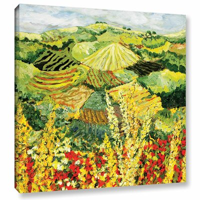 Golden Hedge Painting Print on Wrapped Canvas