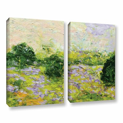 Leicester 2 Piece Painting Print on Wrapped Canvas Set