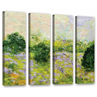 Leicester 4 Piece Painting Print on Wrapped Canvas Set