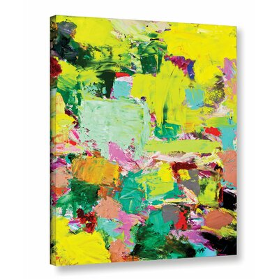 Light Rays Framed Painting Print on Wrapped Canvas Size: 18