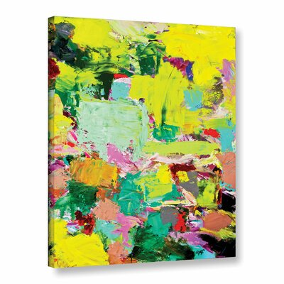 Light Rays Painting Print on Wrapped Canvas Size: 18