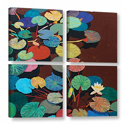 Slow Stream 4 Piece Painting Print on Wrapped Canvas Set