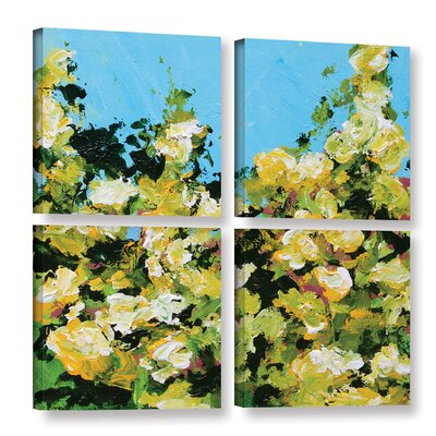 Versaille Garden 4 Piece Painting Print on Wrapped Canvas Set