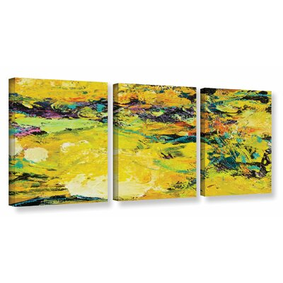 Watermelon Patch 3 Piece Painting Print on Wrapped Canvas Set