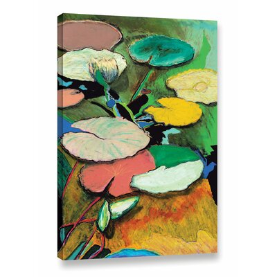 Windchime Spring Framed Painting Print on Wrapped Canvas Size: 18