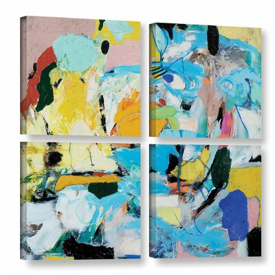 World of Action 4 Piece Painting Print on Wrapped Canvas Set Size: 36