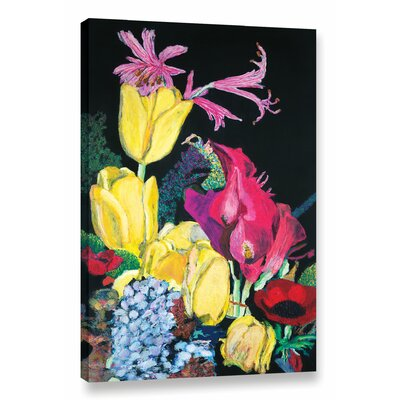 Yellow Tulips Framed Painting Print on Wrapped Canvas