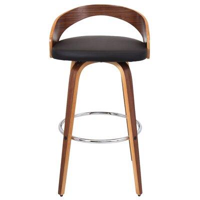 Bridgett 24.25 Swivel Bar Stool Upholstery: Walnut/Brown