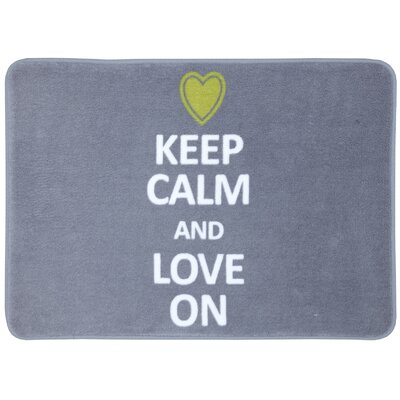 Rebecca Keep Calm Love Bath Mat