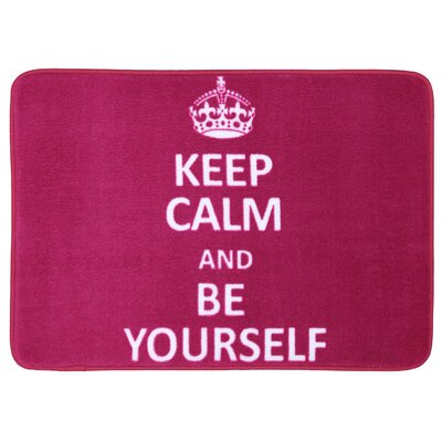 Regina Keep Calm Be Yourself Bath Mat