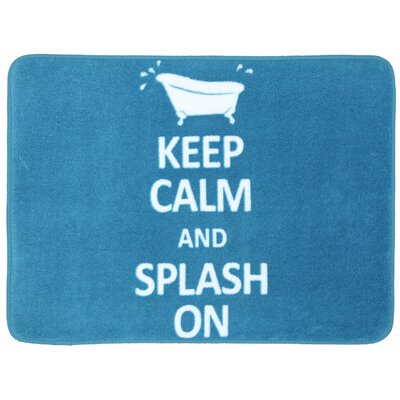 Renee Keep Calm Splash Bath Mat