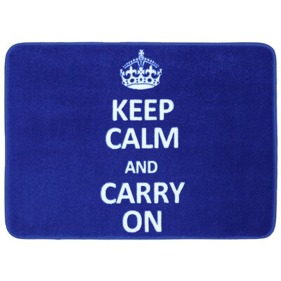 Reyna Keep Calm Carry Bath Mat