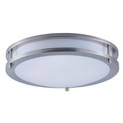Rhonda 1-Light Flush Mount Size: 3.25 H x 12 W x 12 D
