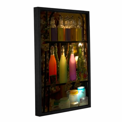 Colorful Bottles Framed Photographic Print on Gallery Wrapped Canvas Size: 18