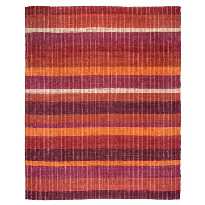 Rosella Hand-Braided Sunrise Area Rug Rug Size: 8 x 10