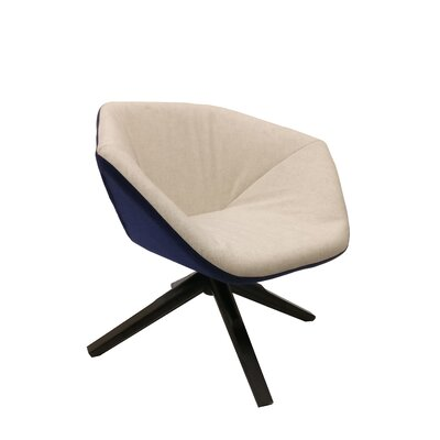 Ruby Swivel Lounge Chair Color: Blue/Cream