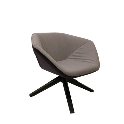 Ruby Swivel Lounge Chair Upholstery: Dark Gray/Light Gray
