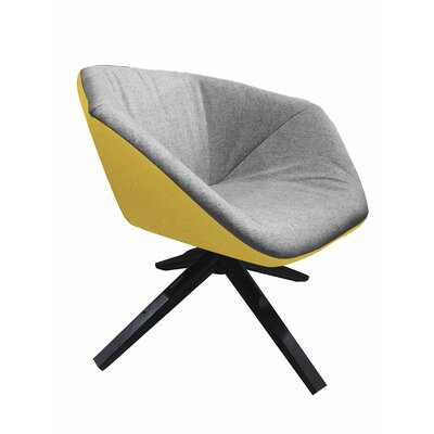 Ruby Swivel Lounge Chair Color: Yellow/Light Gray