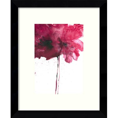 Red Floral Framed Wall Art