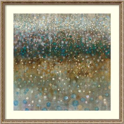 Abstract Rain Framed Graphic Art