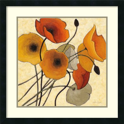 Pumpkin Poppies II Framed Graphic Art