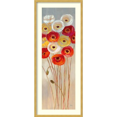 Follow the Sun I Poppies Framed Painting Print