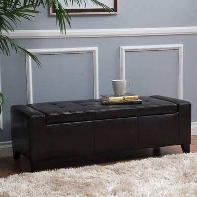 Dunnellon Upholstered Storage Bench Upholstery: Brown