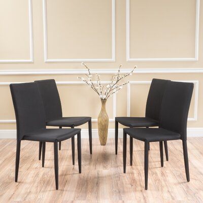 Swepson Side Chair Upholstery: Black