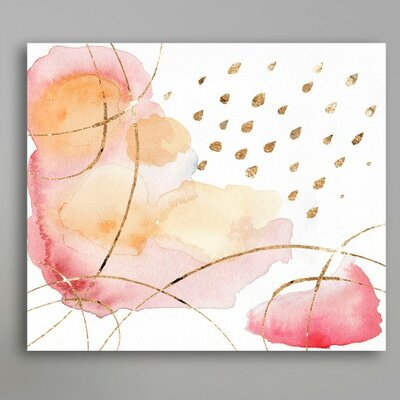 Rain Or Shine Coral Painting Print on Wrapped Canvas Size: 17