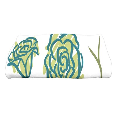 Cherry Spring Floral 1 Floral Print Bath Towel Color: Green