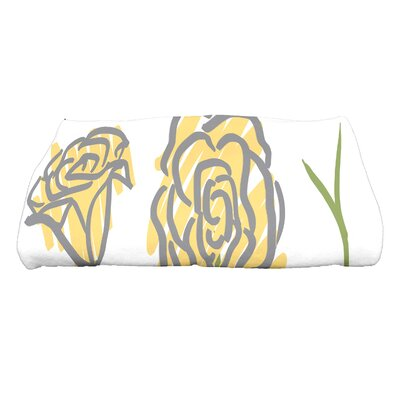 Cherry Spring Floral 1 Floral Print Bath Towel Color: Yellow