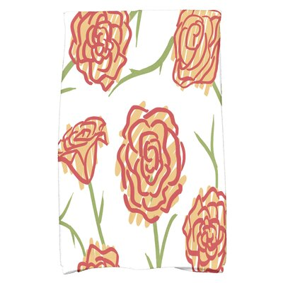 Cherry Spring Floral 1 Hand Towel Color: Gold