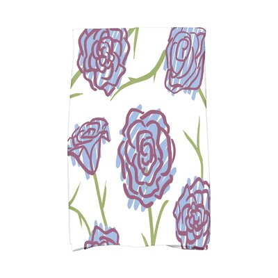 Cherry Spring Floral 1 Hand Towel Color: Blue