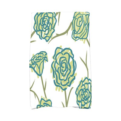 Cherry Spring Floral 1 Hand Towel Color: Green