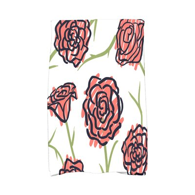 Cherry Spring Floral 1 Hand Towel Color: Coral