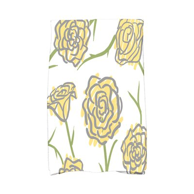 Cherry Spring Floral 1 Hand Towel Color: Yellow