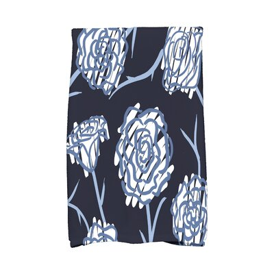 Cherry Spring Floral 2 Hand Towel Color: Navy Blue
