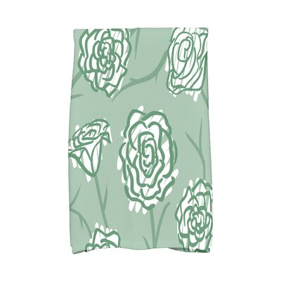 Cherry Spring Floral 2 Hand Towel Color: Green