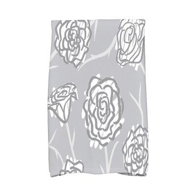 Cherry Spring Floral 2 Hand Towel Color: Gray