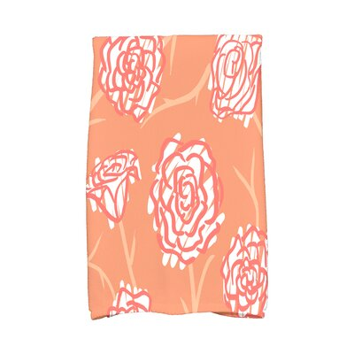 Cherry Spring Floral 2 Hand Towel Color: Coral