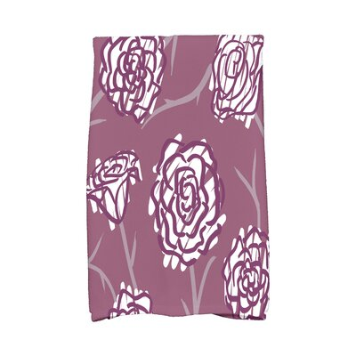 Cherry Spring Floral 2 Hand Towel Color: Purple