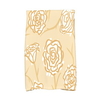Cherry Spring Floral 2 Hand Towel Color: Gold