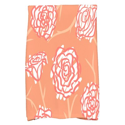 Cherry Rectangle Hand Towel Color: Orange