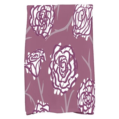 Cherry Rectangle Hand Towel Color: Purple