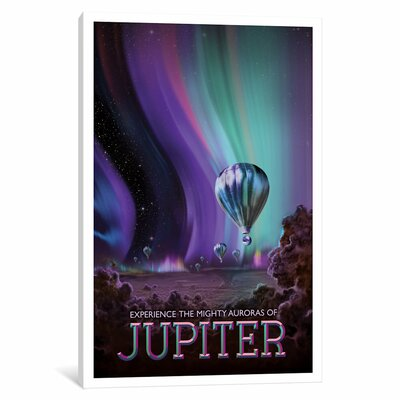Visions of the Future Series: Jupiter Graphic Art on Wrapped Canvas Size: 12