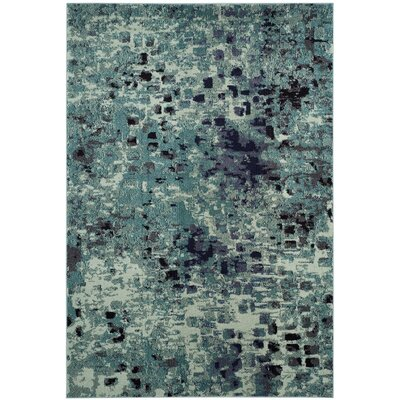 Mila Blue Area Rug Rug Size: Rectangle 3 x 5