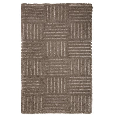 Millicent Hand-Woven Brown Area Rug Rug Size: 8 x 10