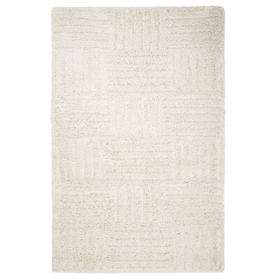 Millicent Hand-Woven Beige Area Rug Rug Size: 5 x 77