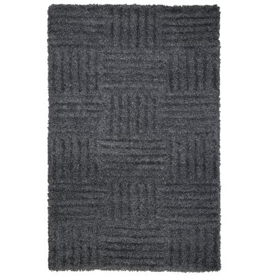 Millicent Hand Woven Dark Gray Area Rug Rug Size: 5 x 77