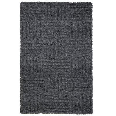 Millicent Dark Grey Area Rug Rug Size: 5 x 77